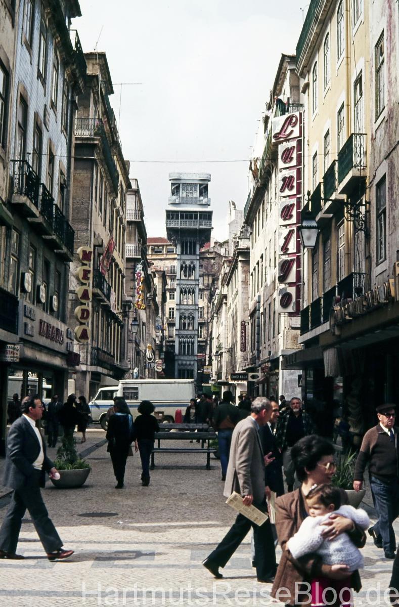 Elevator Santa Justa in Lissabon
